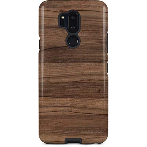 (Skinit Wood LG G7 ThinQ Pro Case - Natural Walnut Wood Design - High Gloss, Scratch Resistant Phone Cover)