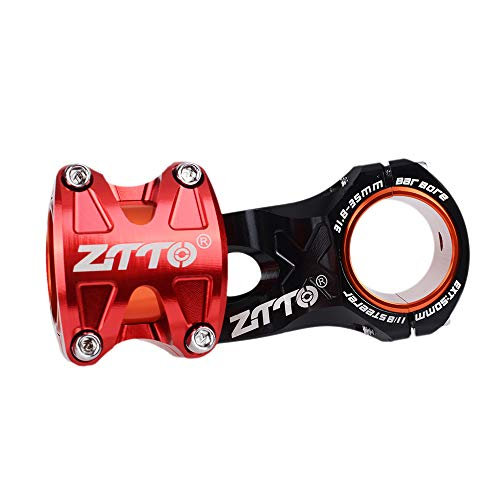 Ztto Mountain Bike Bicycle 31.8/35 Stem 50mm CNC DH AM Enduro Stem High-Strength Lightweight Aluminum Alloy 0 Degree Rise Stem