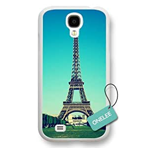 Onelee(TM) - Eiffel Tower White Samsung Galaxy S4 case - Custom Personalized Paris France Hard Plastic Samsung Galaxy S4 Cover - White08