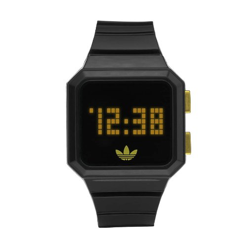 adidas Unisex LED PEACHTREE negro y oro IP digital reloj - adh4046: Amazon.es: Relojes