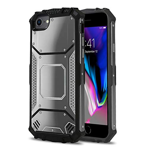 Iphone Case Apple Aluminum - Phone Case for [Apple iPhone 6/6s Plus, 7/7s Plus, 8 Plus (5.5 inch)], [Alloy Series][Gun Metal] Aluminium [Metal Plate] Military Grade Cover for iPhone 6/6s Plus, 7/7s Plus, 8 Plus (5.5 inch)