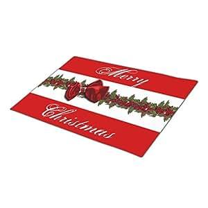 C-Kath Monogrammed Door Mat Holiday Holidays Garland Wreath Door Mate