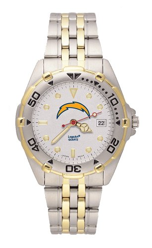 San Diego Chargers Men's All Star Watch Stainless Steel Bracelet by LogoArt