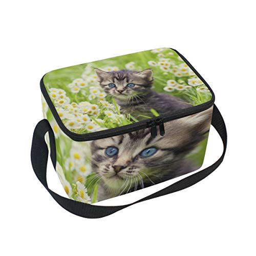 (Lunch Bag Greater Lafayette Cat Womens Insulated Lunch Tote Zipper Kids Lunch Box)