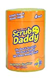 Scrub Daddy - Original FlexTexture® Scrubber - Scratch-Free & Odor Resistant - 4 Count Roll