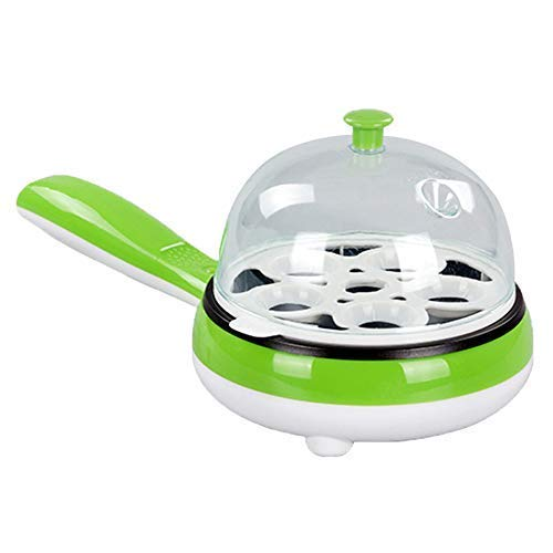 Hekitech Egg Cooker: 7 Egg Volume Electric Skillet for Eggs Poached, Eggs Boiled, Eggs Fried and Eggs Omelets with Auto Shut Off Function - Green