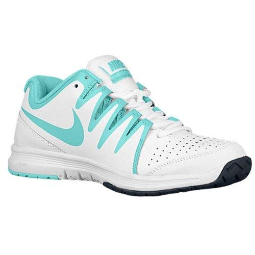 New Nike Women's Vapor Court Tennis Shoe White/Light Aqua 10