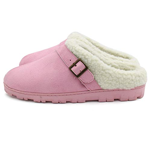 Pink Slip ALOTUS Warm Indoor Women's Buckle with Thick Outdoor Soft Anti Slippers qHw4xwPRf