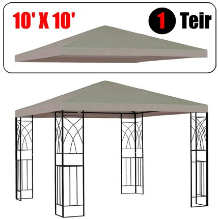Amazon.com GotHobby 10u0027 X 10u0027 Gazebo Replacement Canopy Top Cover - Beige Color Single-teir Garden u0026 Outdoor  sc 1 st  Amazon.com : replacement canopies for gazebos - memphite.com