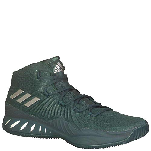 Green Crazy (adidas Men's Crazy Explosive 2017 Basketball Dark Green/White/Silver Metallic 9.5 D(M) US)