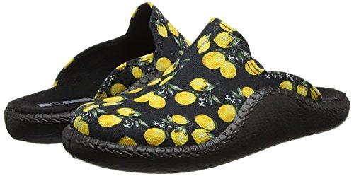schwarz Mokasso Femme multi Romika 127 Pantoufles Multicolore q8wW6vXF