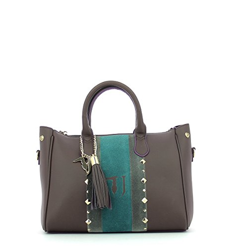 Trussardi Jeans Blondie Ecoleather Stud Tote Medium Bag Borsa a mano 30 cm Brown