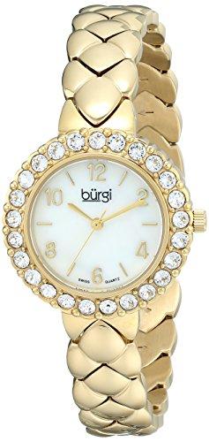 Burgi Women's BUR113YG Analog Display Swiss Quartz Gold Watch