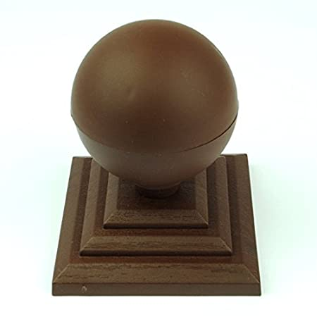 """Linic 20 x Brown 3"""" or 75mm Plastic Fence Top Finial Rot Proof UK Made GT0046"""