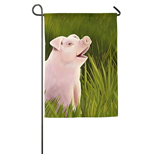 Hfdream Pig Animals Home Flag Seasonal Garden Flag Concise Outdoor Flags Funny Yard Flag