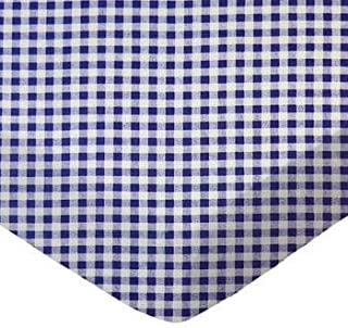 product image for SheetWorld 100% Cotton Percale Fitted Crib Toddler Sheet 28 x 52, Purple Gingham Check, Made in USA