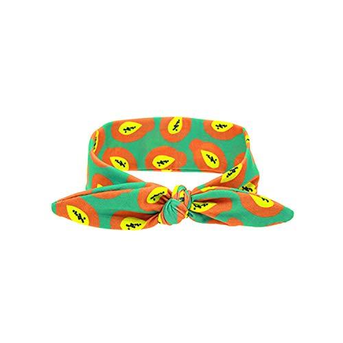 Summer Watermelon Headbands Diy Cotton Elastic Girls Hair Band Newborn Ring Wrap Kids Hair -