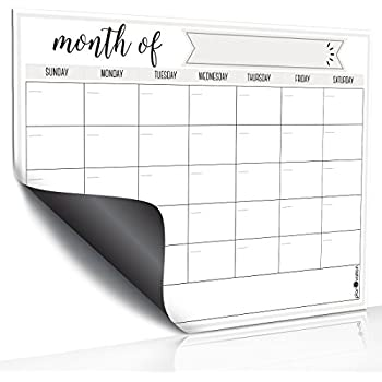 Amazon.com : Magnetic Dry Erase Refrigerator Calendar by