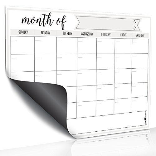 Magnetic Dry Erase Refrigerator Calendar by planOvation | Large Calendar Whiteboard Monthly Planner Magnet ()