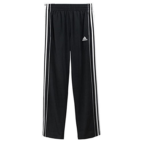 Adidas Boys Athletic Pants Large Black & White,XL-18