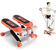 Stepper LCD Display Screen, Mini Fitness Machine with Twisting Waist Disc, Weight-Loss Stovepipe Stair Stepper
