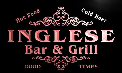 u21584-r INGLESE Family Name Bar & Grill Home Beer for sale  Delivered anywhere in USA