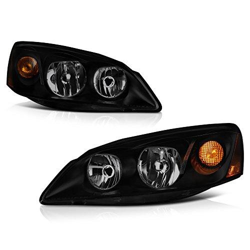 - VIPMOTOZ Black Smoke OE-Style Headlight Headlamp Assembly For 2005-2010 Pontiac G6, Driver & Passenger Side