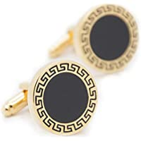 Round Enamel Cufflinks Extreme Classic Mens Shirt Cufflinks For Wedding Business