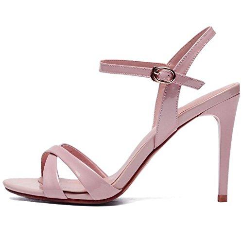 1 7cm Zanpa Stiletto pink Pelle Mode Sandali Donne UwX1a