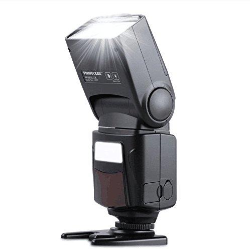 Photoolex M500 Flash Speedlite Compatible for Canon Nikon Sony Panasonic Olympus Fujifilm Pentax Sigma Minolta Leica and Other SLR Digital Film and Digital Cameras with Single-Contact Hot Shoe