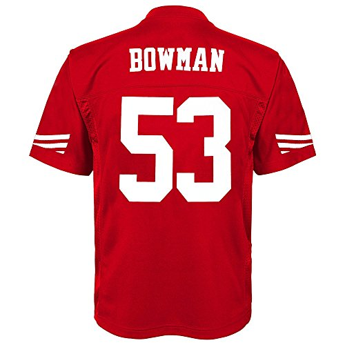 NFL Youth Boys 8-20 NaVorro Bowman San Francisco 49Ers Boys -Player Name Jersey, Crimson, Xl(18)