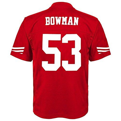 NFL Youth Boys 8-20 NaVorro Bowman San Francisco 49Ers Boys -Player Name Jersey, Crimson, M(10-12)