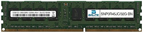 SNP0R45JC/32G - Dell Compatible 32GB PC3-10600 DDR3-1333Mhz 4Rx4 1.35v ECC Registered RDIMM by Brute Networks