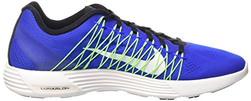 Nike Lunaracer+ 3, Zapatillas de Gimnasia para Hombre, Multicolor, Media Azul / Blanco / Verde / Negro (Racer Blue / White-Vltg Grn-Blk)