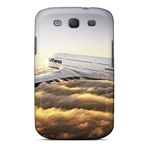 For Galaxy S3 Protector Case Airbus A380 Lufthansa Sunset Phone Cover