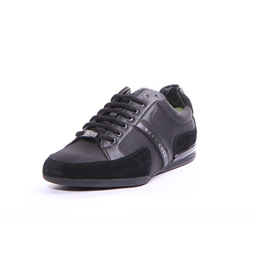Black Boss Fabric (Hugo Boss Footwear Green Spacit Fabric Black Trainer 12)