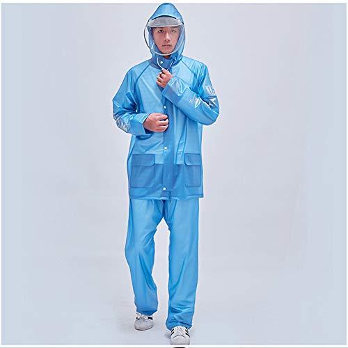 Elettrico Blue White Da Pantaloni Impermeabile Vestito Anti Guyuan Size Equitazione Escursionismo Moto Per color tempesta Singolo Pioggia Xxl Diviso Uomo qH8wax