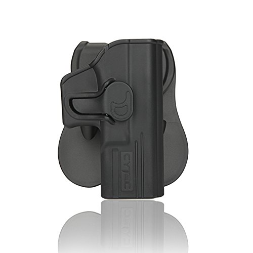 Polymer Gun Paddle Holster Trigger Release Adjustable Cant Holsters, Matte Finish OWB Tactical Pistol Holster for Glock 19 23 32