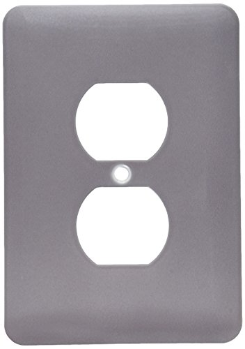 3dRose lsp_159862_6 Dark Grey Charcoal Steel Gray Plain Simple One Single Solid Color Modern Contemporary Light Switch Cover