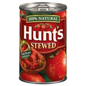 Hunt's 100% Natural Stewed Tomatoes 14.5 Oz (Pack of 6)