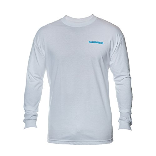 Price comparison product image Shimano Long Sleeve Cotton Tee-Shirt,  Medium,  White