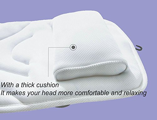 Full Body Spa Bath Pillow Mat, Luxury Soft Quilted Bathtub Cushion Mattress with Large Non Slip Suction Cups, Comfort Head Rest and Back & Tailbone Support,¡ by Idle Hippo (Image #2)
