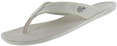 4569a100436a Lacoste Carros 6 Leather Flip Flop Thong Sandal - Off White - Mens - 8