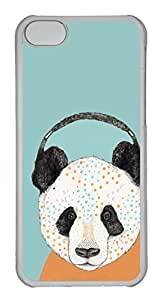 linJUN FENGCustomized iphone 4/4s PC Transparent Case - Panda Cover
