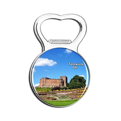 (Weekino UK England Tamworth Castle Fridge Magnet Bottle Opener Beer City Travel Souvenir Collection Strong Refrigerator Sticker)