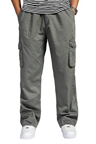 Hommes Pure Casual Automne Élastique Coton Printemps Armeegrün Cargo Marque Avec Sport Couleur Large Pocket Mode Pour Pantalon ZwqOEH