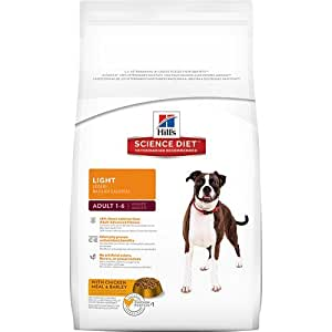 Hill's Science Diet Adult Light Dry Dog Food, 17.5-Pound Bag