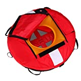 SM SunniMix Heavy Duty Scuba Diving Freediving Diver Snorkeling Spearfishing Surface Marker Buoy/Safety Buoyancy Signal Float Gear Equipment - Red