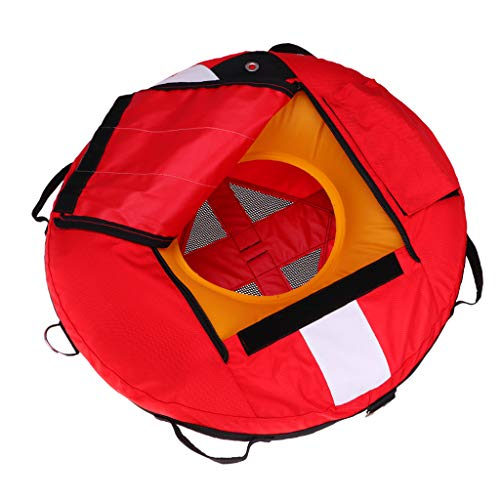 SM SunniMix Heavy Duty Scuba Diving Freediving Diver Snorkeling Spearfishing Surface Marker Buoy/Safety Buoyancy Signal Float Gear Equipment - Red (Float Safety Marker)