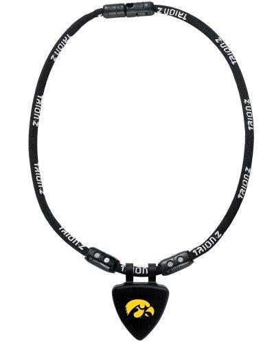 NCAA Iowa Hawkeyes Necklace, Black, Large
